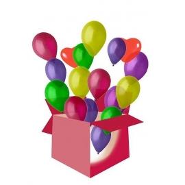 Karp heeliumiga täidetud õhupallidega