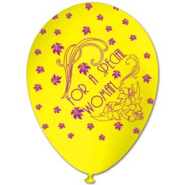 """FOR A SPECIAL WOMAN"" trükiga 30cm/12"" õhupallid kollased"
