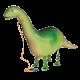 """Brontosaurus kõndiv, heeliumiga täidetud 45""""/114cm"""