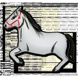 """Hobune valge foolium, heeliumiga täidetud 36""""/90cm"""