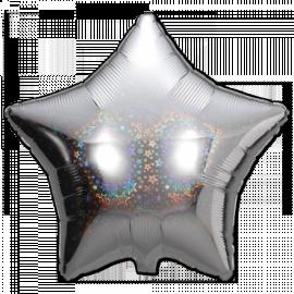 """Täht hologrammiga foolium, heeliumiga täidetud 18""""/45cm"""