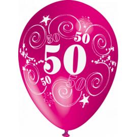 """""""50"""" trükiga 30cm/12"""" õhupallid MIX"""